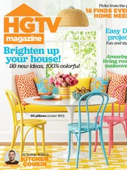 The cover of the April issue of HGTV Magazine.