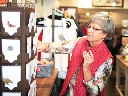 Kathie Kearns of Chapel Hill shops at Frock Boutique