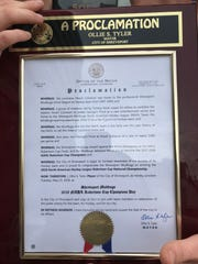 Tuesday was dubbed Shreveport Mudbugs Day by mayor Ollie Tyler.