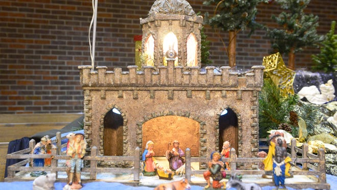 The Wonder of Christmas, a Display of Nativity Scenes, will be at Lakeshore United Methodist Church, 411 Reed Ave. Pictured is a nativity from 2015.