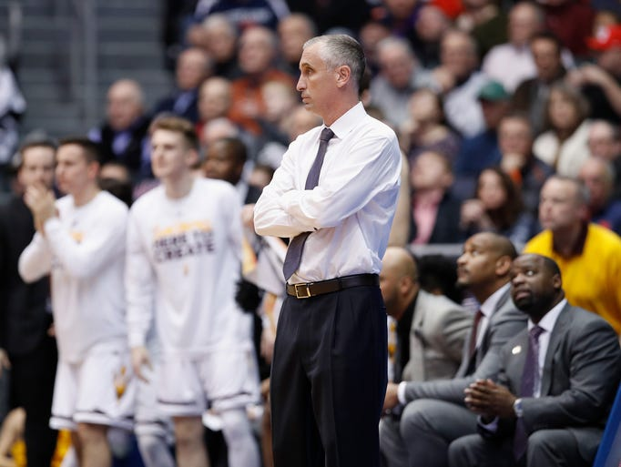 ASU coach Bobby Hurley of watches late in the game