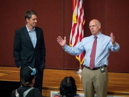 Congressmen Steve Pearce and Beto O'Rourke at Veterans Town Ha