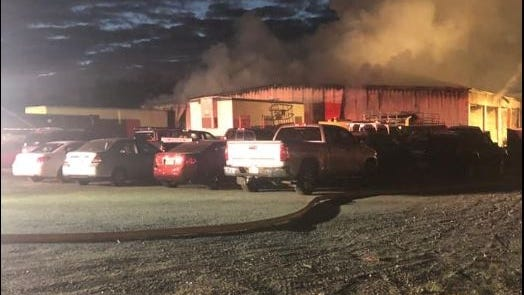 Freetown Fire Department battled a two-alarm fire on Braley Road early Monday morning.