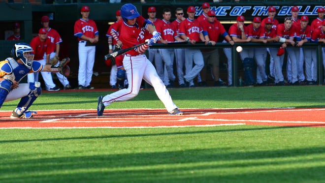 Louisiana Tech's Sean Ullrich had a pair of doulbes in a loss at Middle Tennessee on Thursday.