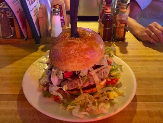 A burger from Tiger's Tale.