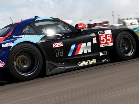 A BMW W6 is pictured at Watkins Glen in Forza Motorsport