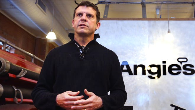 Indianapolis-based Angie's List CEO Bill Oesterle announced Saturday that the company is pulling out of an expansion plan due to Indiana's passage of the Religious Freedom Restoration Act this week.He held a news conference Saturday, March 28, 2015, at the company's headquarters at 1030 E. Washington St.
