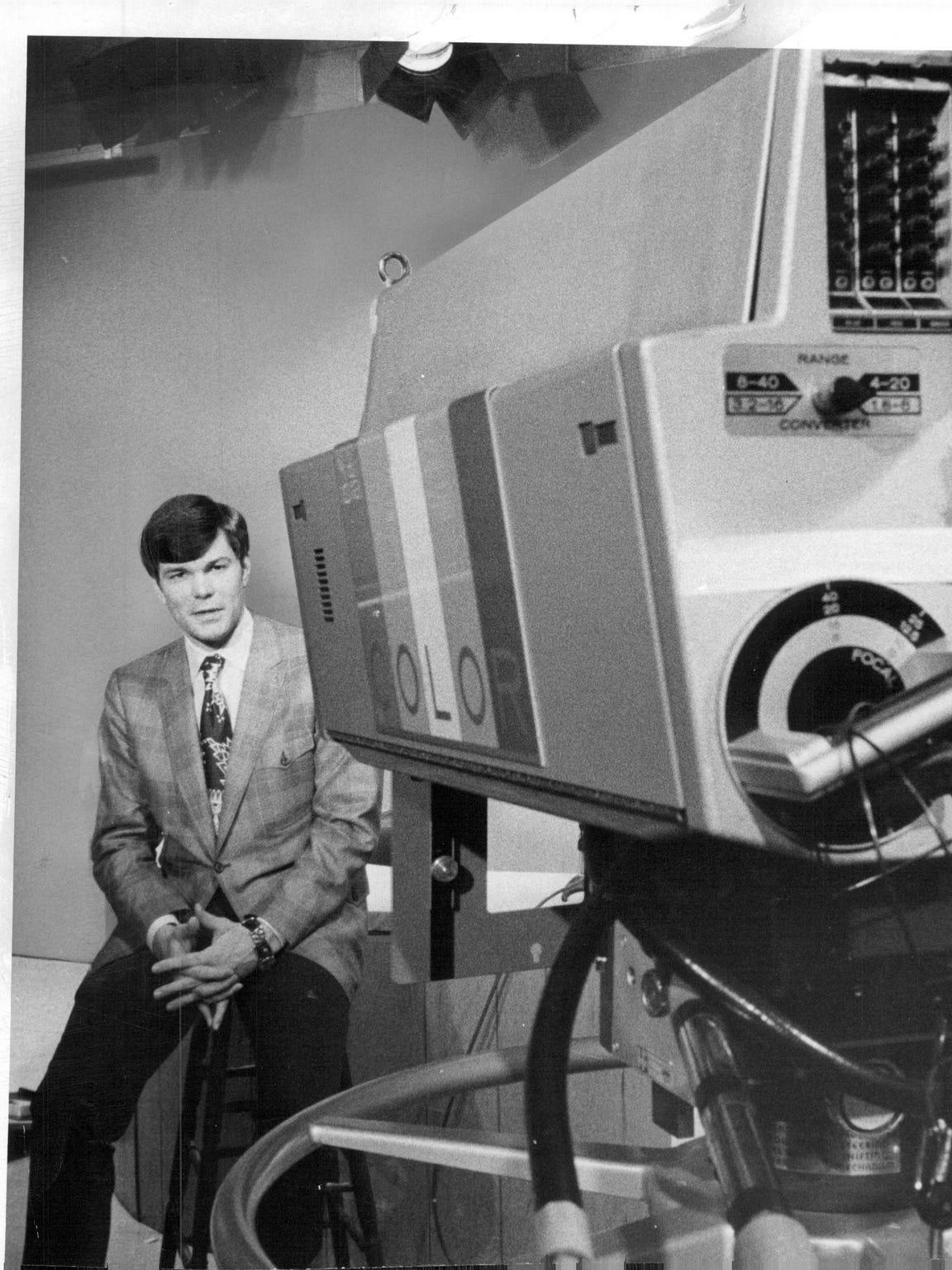 Don Alhart on set in 1971.