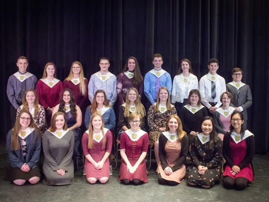 Pictured are members of the Two Rivers High School