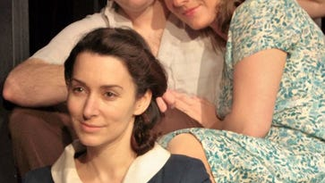 """Joe Dely, Teri Noaeill (top row) and Katherine Nofs star in """"A Streetcar Named Desire."""""""