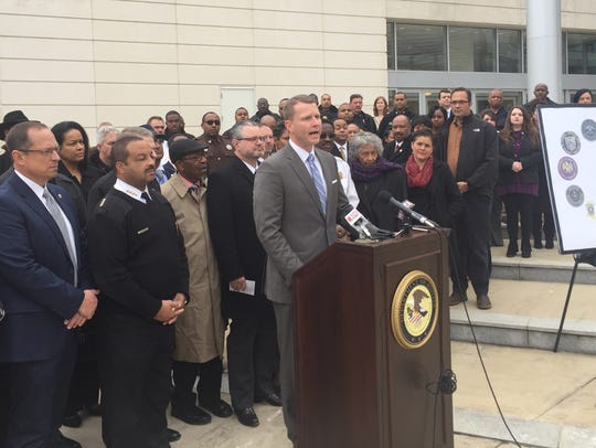 Southern District U.S. Attorney Mike Hurst announces