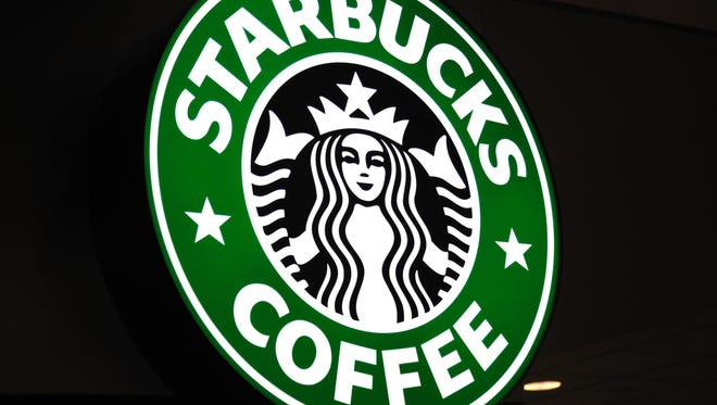 This file photo taken on October 7, 2010, shows the Starbucks coffee logo in St. Paul, Minn.