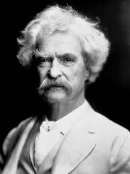 Author Mark Twain in a 1907 photo.