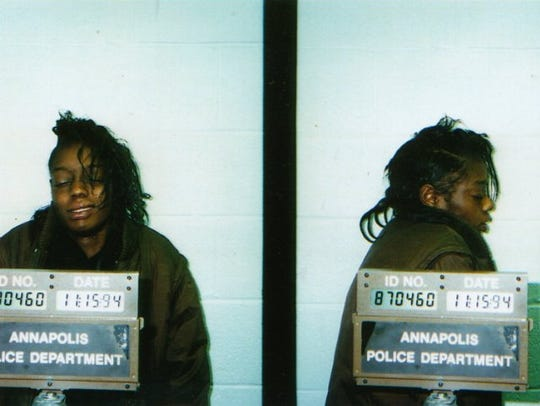 A mugshot from the Annapolis Police Department in Maryland