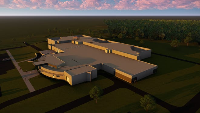A rendering of the new Cumberland County Jail planned for 2020.