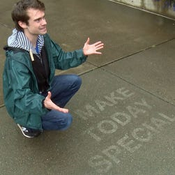 Seattle artist creates rain magic