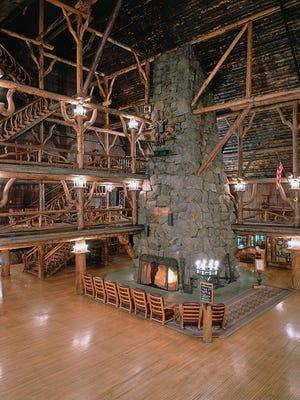 Old Faithful Inn at Yellowstone National Park.