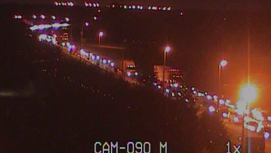 A screenshot of video from a Delaware Department of Transportation camera shows traffic backed up at the Del. 1 ramp to south Smyrna on Thursday, Sept. 1, 2016.