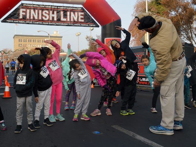 Nearly 200 people raced their way into the new year