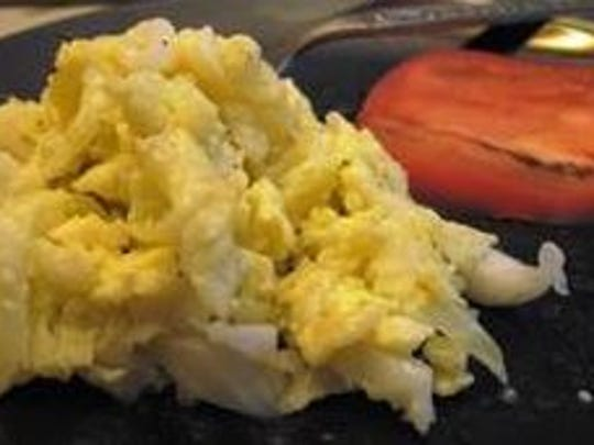 Michelle Lofton's cabbage and eggs.