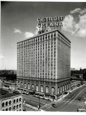 The Detroit-Leland Hotel, built in 1927, is shown in 1966.