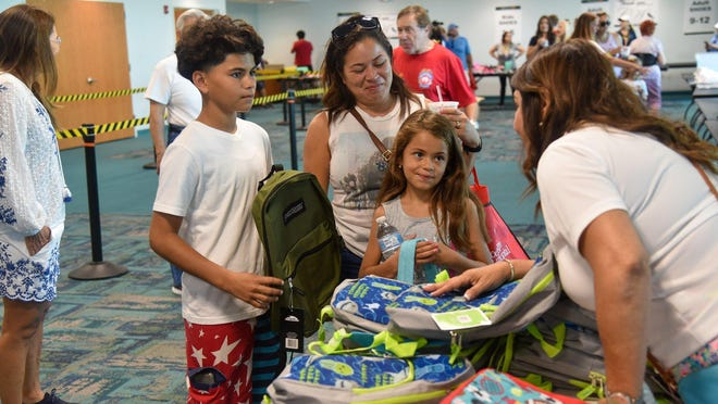 Wellington collected a record number of backpacks during its 2019 annual school supply drive.