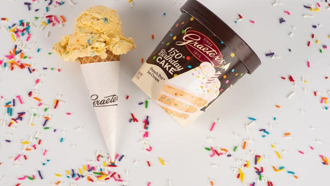 Graeter's Ice Cream is celebrating its 150th birthday with the creation of a special ice cream flavor and a limited edition birthday donut. Each of the specialty products will be released on July 1.