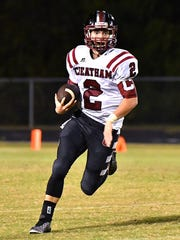 Cheatham County quarterback Landon Barnes (7)