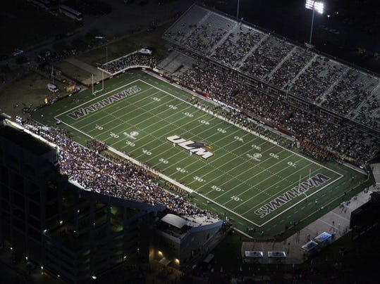 Aerial view of University of Louisiana at Monroe's campus on gameday with Grambling State University. DACIA IDOM/THE NEWS-STAR