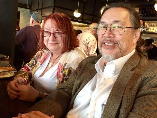 Joanne Rusch and Bryan Watson of West Bloomfield enjoy