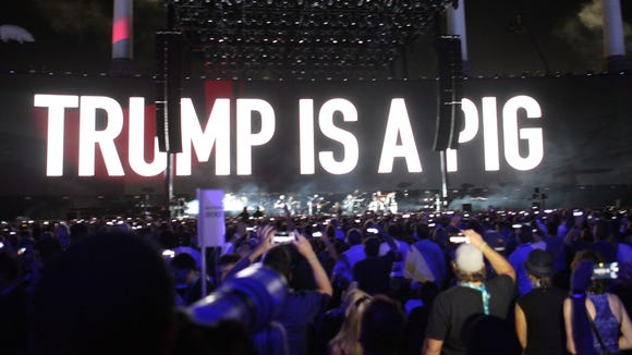 Roger Waters dedicated some of his performance to ridiculing