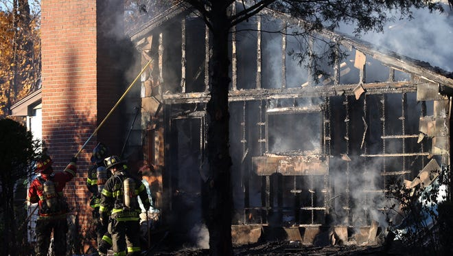 A fire gutted a home on Old Post Road in Fairport on Monday.