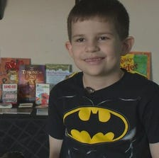 This year, instead of getting presents, 6-year-old Kobin Contreras is giving hundreds of other children across Texas a gift instead.