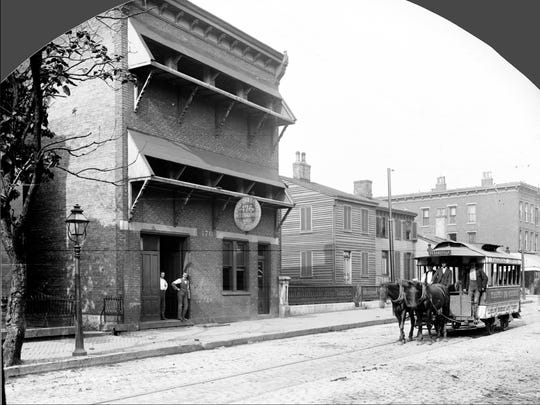 Historic Cincinnati photographers Rombach & Groene captured the last horse-drawn streetcar passing their studio on Fourth Street in 1892.