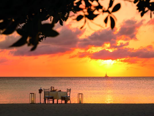 Aruba is known for its nightlife, but for a honeymoon