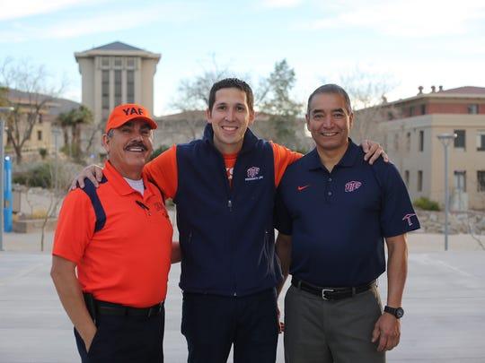 Jaime Barceleau, left, Christian Corrales and Raymond Palacios.