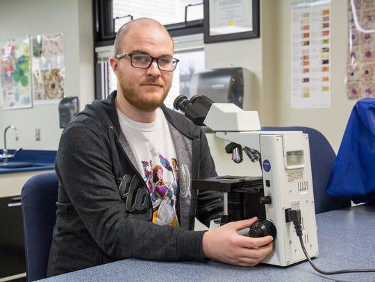 Seth Bubolz, a Medical Laboratory Technician student