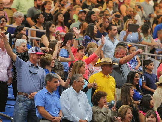 Family and friends packed the Steinke Physical Education Center at four commencements held Friday, May 12, 2017, and Saturday, May 13, 2017, at Texas A&M University-Kingsville. They cheered on the graduates as they processed into the gym. Nearly 1,300 students received their degrees over two days.