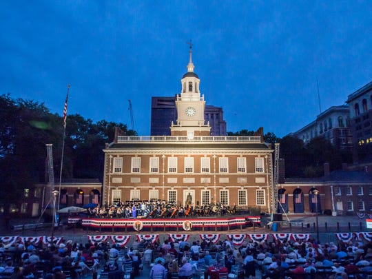 Philadelphia's Independence Hall provides the historical backdrop for Welcome America celebrations by Philly POPS.