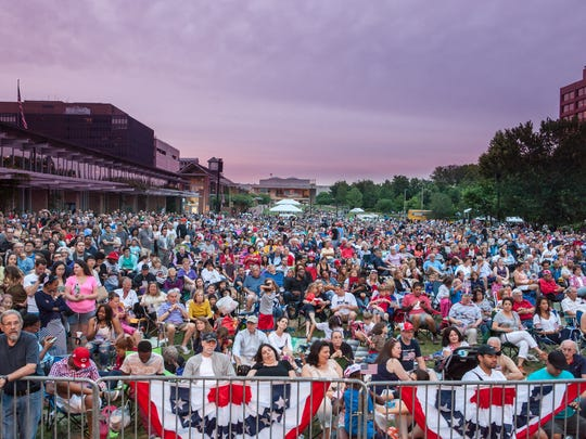 The crowd at the 2016 Wawa Welcome America Festival enjoys a performance by Philly POPS.
