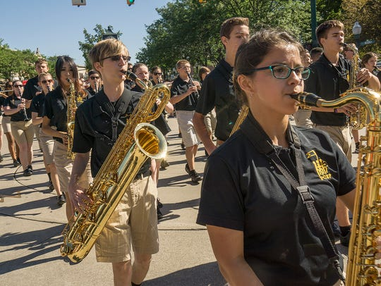 P-CEP Marching Band are always a parade highlight.