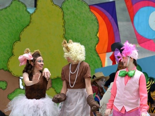 Children's Educational Theatre performs at a previous