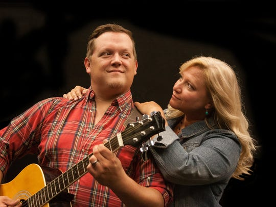 """Joe Reed and Heather Stoll rehearse a scene in """"Ring"""