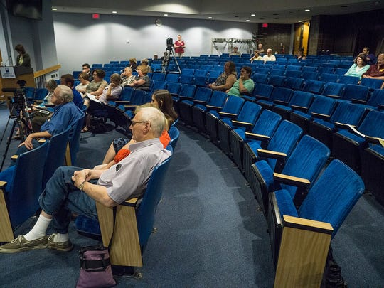 A small crowd turned out for the forum.