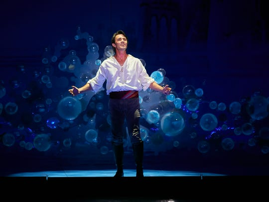 Eric Kunze in Disney's The Little Mermaid. Showtimes are from Oct. 24-29 at The Auditorium Theatre.