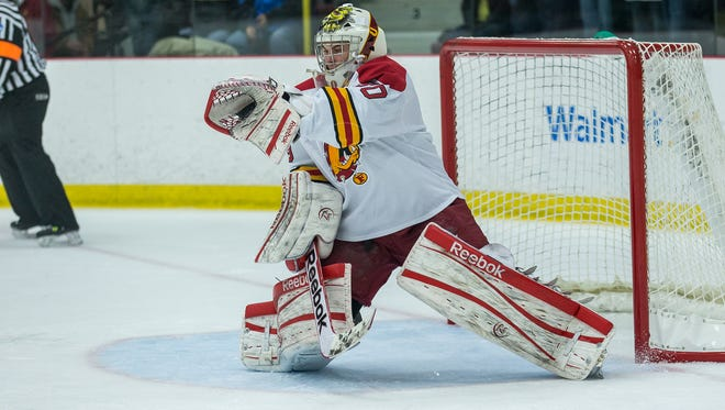 St. Clair native C.J. Motte, a Hobey Baker finalist, led Ferris State into the NCAA Tournament last year.