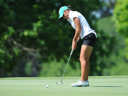 Allyson Geer at the 2017 NCAA Women's Golf Athens Regional