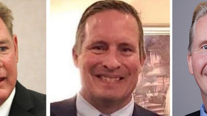 From left to right: William Phelan, James Coughlin and Patrick McDermott are all running for Norfolk County Sheriff.