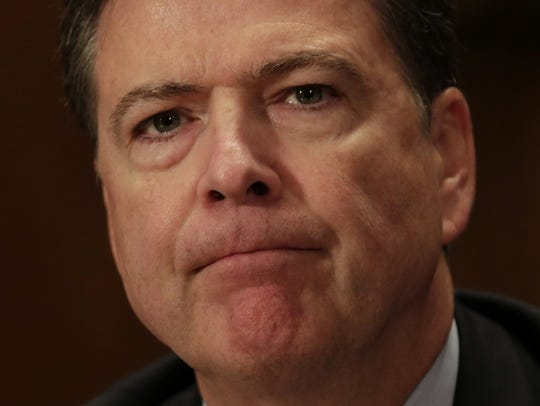 FBI Director James Comey testifies during a Senate