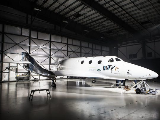 In Mojave, California, on Friday, Virgin Galctic unveiled its new SpaceShipTwo, named the VSS Unity.